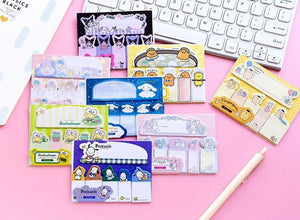 Sanrio Character Sticky Memo Pad Notes - 90 sheets Stationery - Sweetie Kawaii