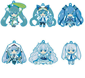 Vocaloid Hatsune Miku Nendodroid Plus Collectable PVC Keychain - Snow Miku Collection Vol. 2 Collectables - Sweetie Kawaii