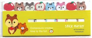 Kawaii Squirrel & Chipmunk Sticky Memo Point Markers