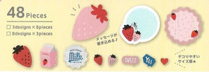 Sweet Strawberry Milk Sticker Flakes Stickers - Sweetie Kawaii