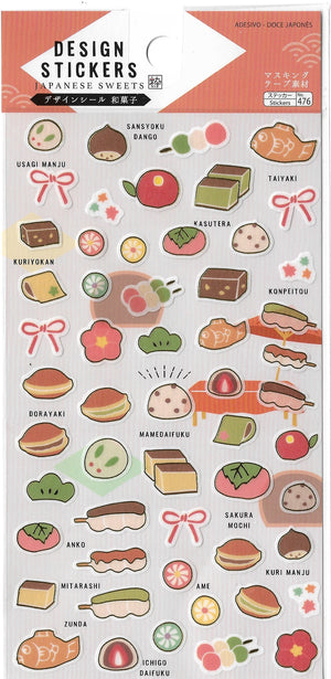 Traditional Japanese Sweets & Snacks Sticker Sheet Stickers - Sweetie Kawaii