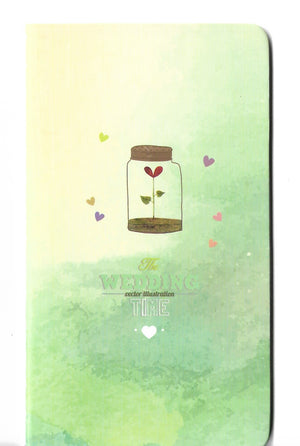 A Wish in a Jar Watercolour Spring Mini Memo Notebook Stationery - Sweetie Kawaii
