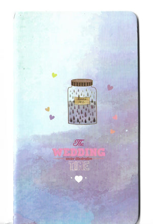 A Wish in a Jar Watercolour Winter Mini Memo Notebook Stationery - Sweetie Kawaii