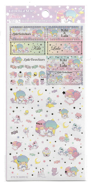 Litte Star Twins Sticker Sheet (Japanese Exclusive) Stationery - Sweetie Kawaii