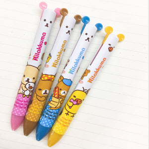 Rilakkuma Korilakkuma Kiiroitori Two Colour Ballpoint Pen Stationery - Sweetie Kawaii