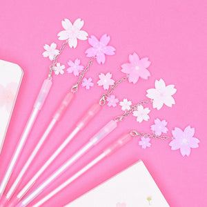 Cherry Blossom Sakura Flower Hanami Floral Charm Pen Stationery - Sweetie Kawaii