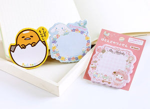 Sanrio Character Memo Sticky Notes Pad - 30 Sheets Stationery Sweetie Kawaii