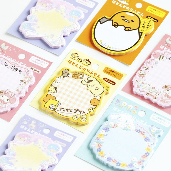 Sanrio Character Memo Sticky Notes Pad - 30 Sheets