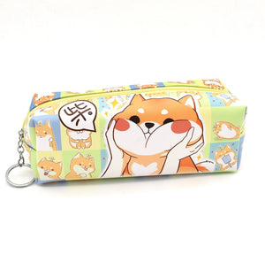 Shiba Inu Puppy Dog Very Good Boy Pencil Case Stationery - Sweetie Kawaii