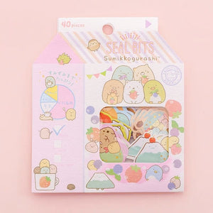 Sumikkogurashi Coffee Shop Drinks and Doughnut Stickers Stickers - Sweetie Kawaii