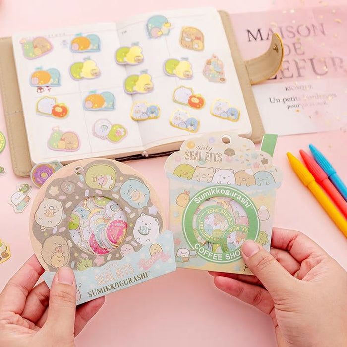 Sumikkogurashi Coffee Shop Drinks and Doughnut Stickers