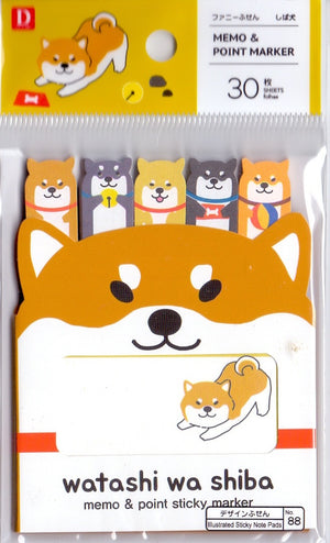 Watashi wa Shiba Sticky Memo & Point Marker Sticky Memo & Point Markers - Sweetie Kawaii