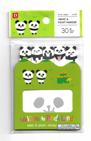 Welcome to Panda Land Sticky Memo & Point Marker Sticky Memo & Point Markers - Sweetie Kawaii