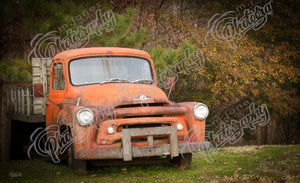 Antique Truck (Orange)