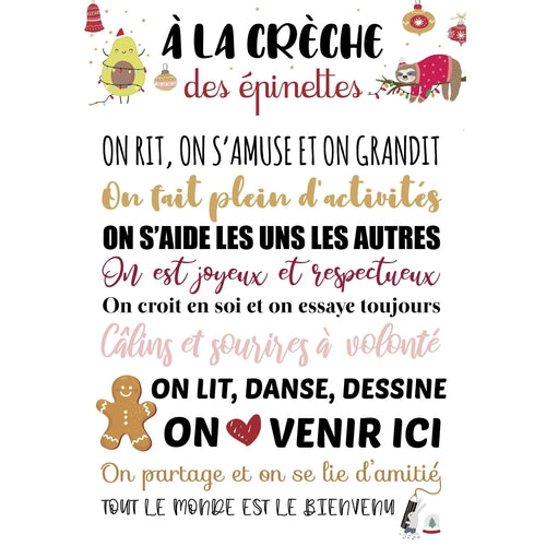 Affiche Merci la Crèche Collection Noël