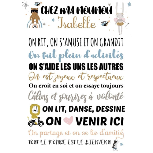 Affiche nounou Collection Coeur