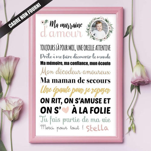 Affiche Marraine d'Amour
