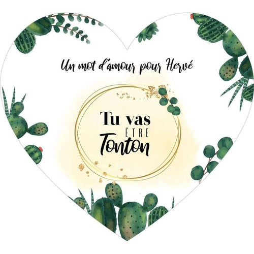 "Carte à gratter  ""Tu vas être tonton"" Collection Cœur"