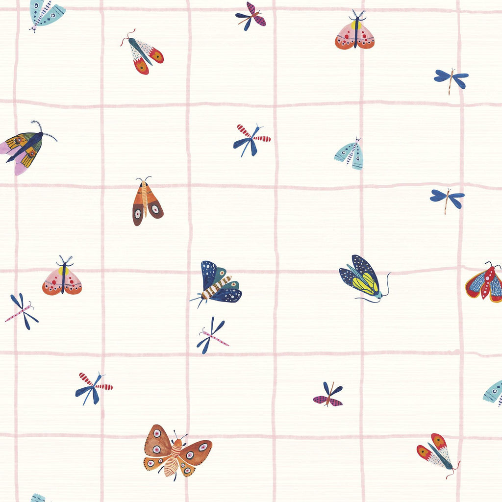 BUTTERFLY HOUSE NAIF vinyl painted with watercolors by Magdalena Orlowska. Customized and in various background colors.