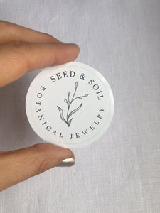 Seed & Soil logo sticker