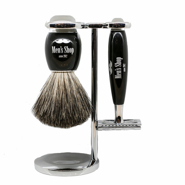 Safety Razor Barbersæt - Sort - Men's Shop