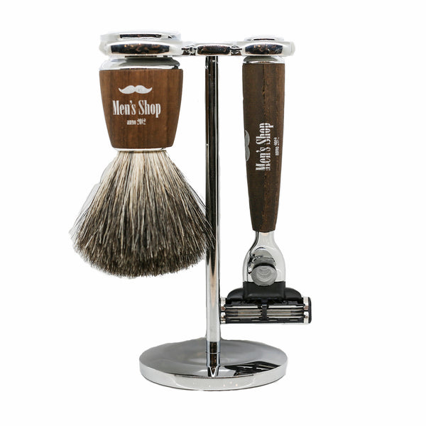 Gillette Mach 3 Barbersæt - Ask - Men's Shop