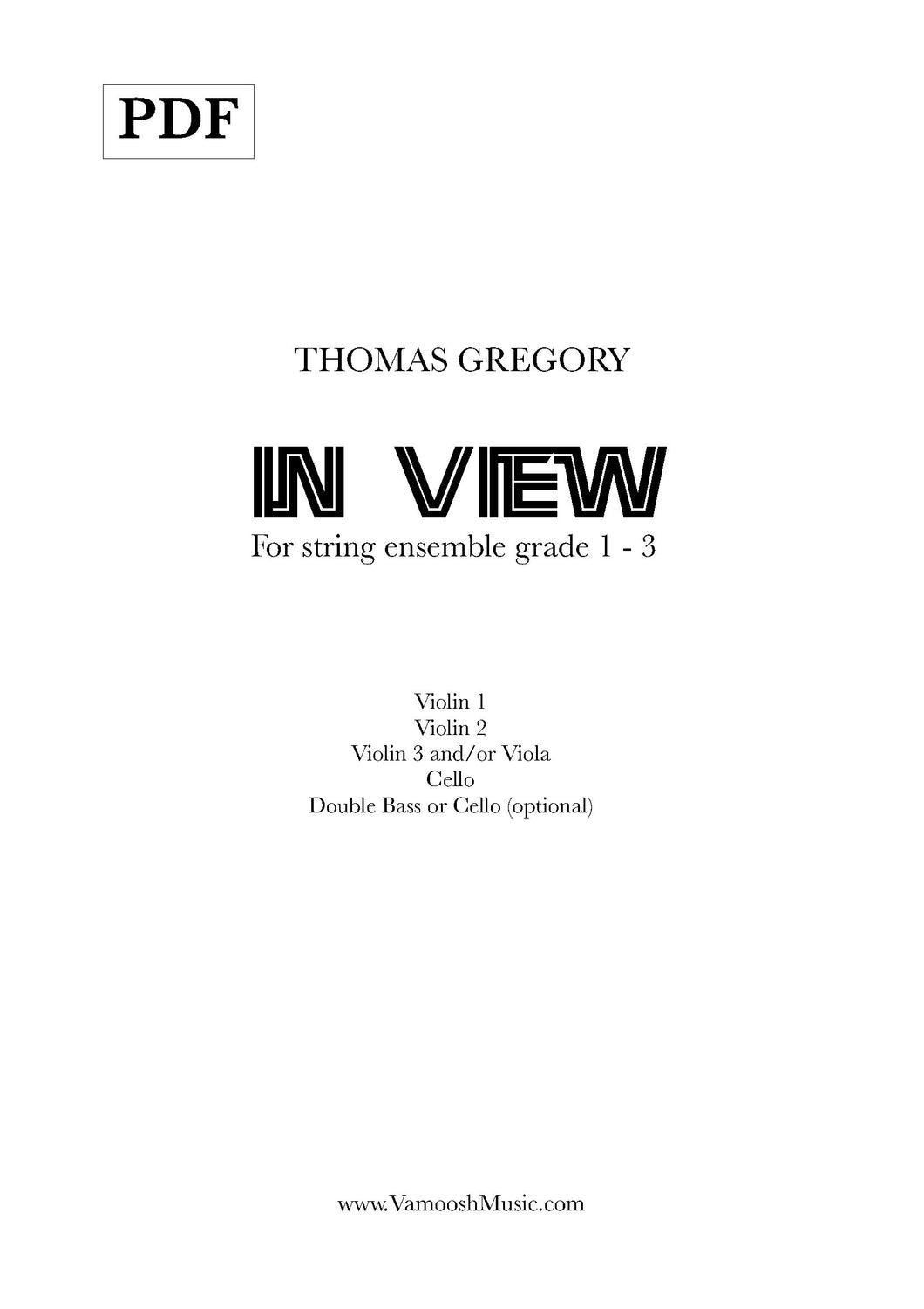 In View (PDF) by Thomas Gregory