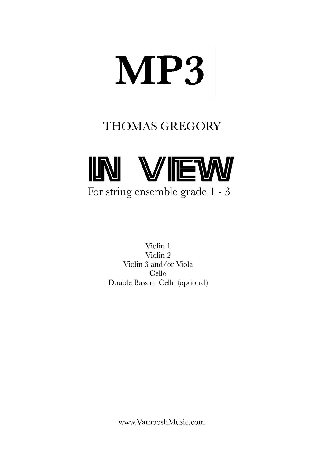 In View (MP3) by Thomas Gregory