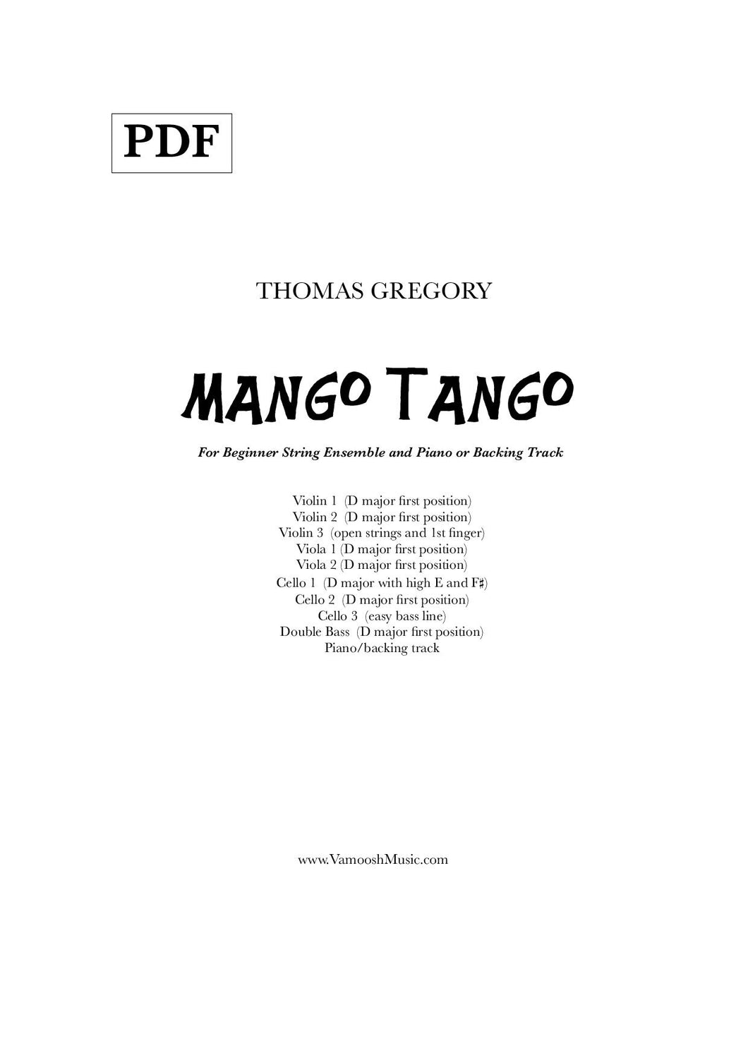 Mango Tango Backing Track (MP3)