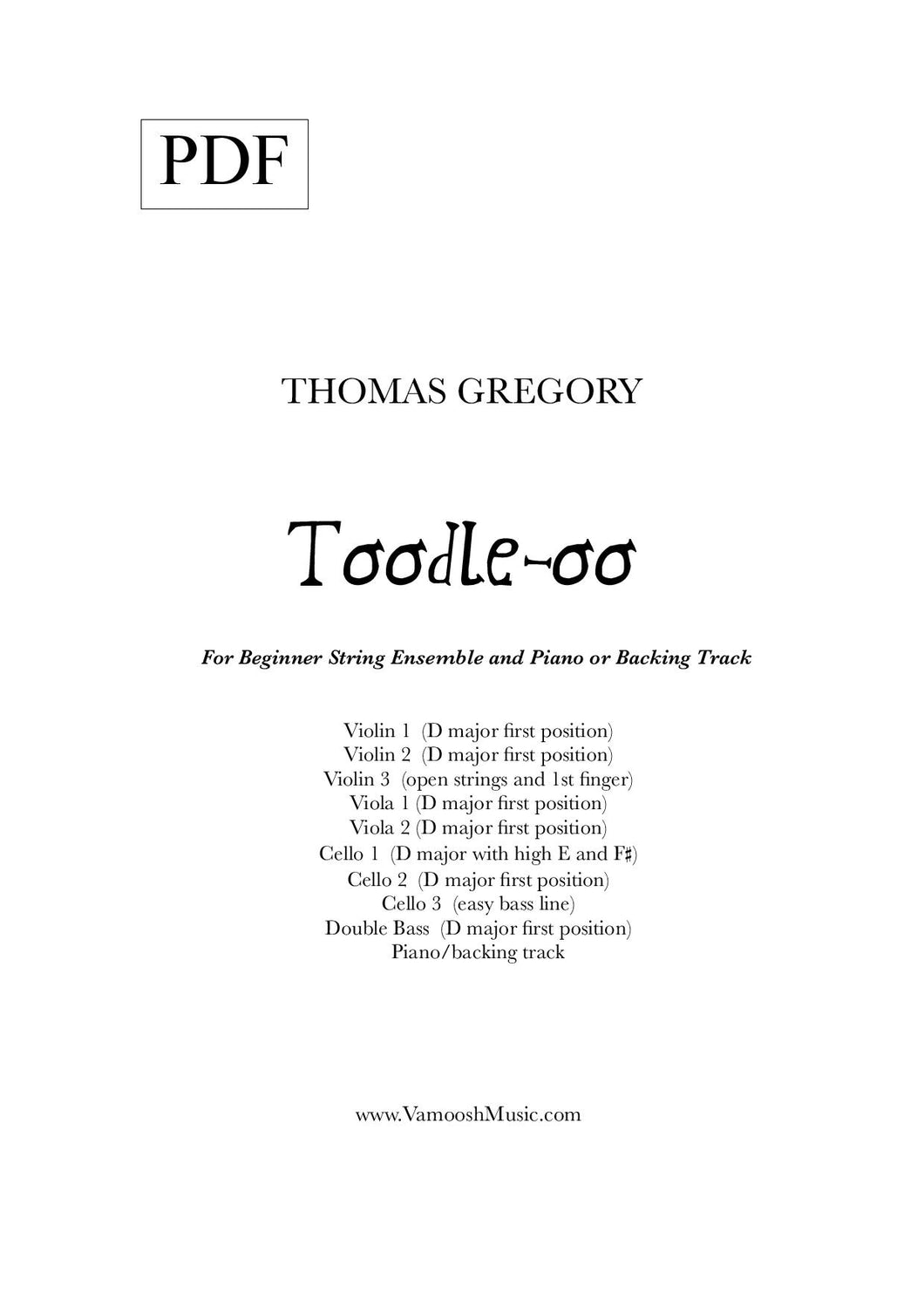 Toodle-oo (PDF) by Thomas Gregory