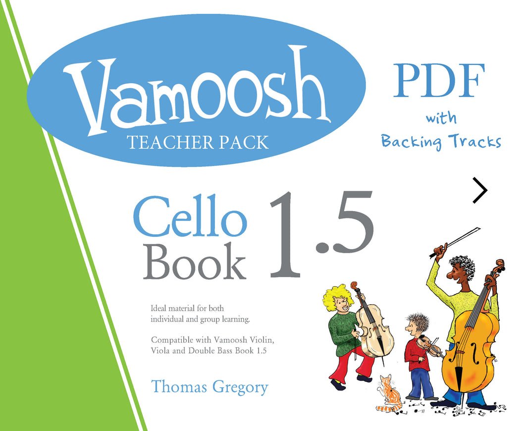 Vamoosh Cello Book 1.5 Teacher Pack (PDF)