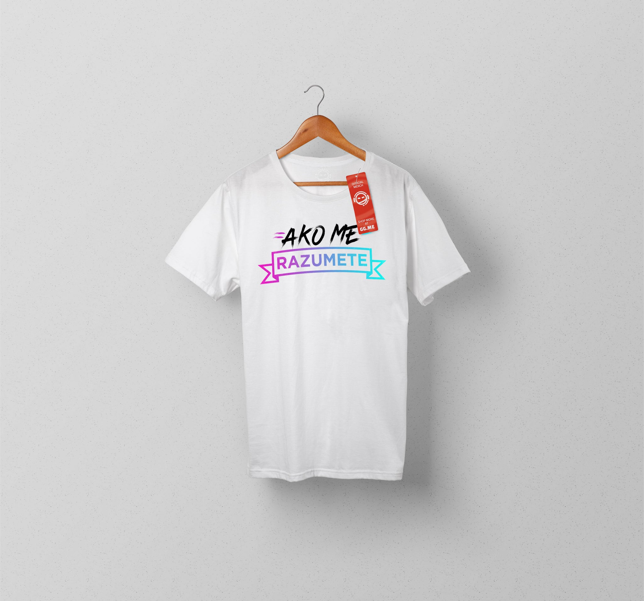 AkoMeRazumete Colour Logo T-shirt