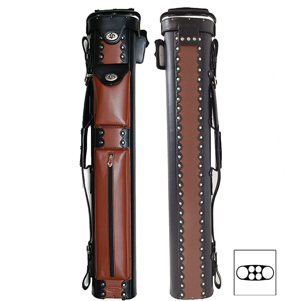 Cowboy Style Pool Cue Case - 2 Butt/4 Shaft