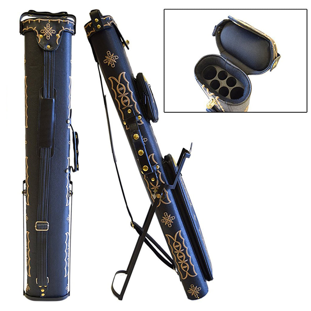 Cowboy Style Pool Cue Case - 2 Butt/4 Shaft - Includes Stand