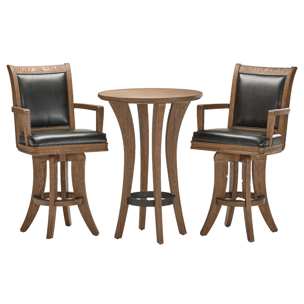 Brunswick Centennial Pub Table with 2 High Back Chairs