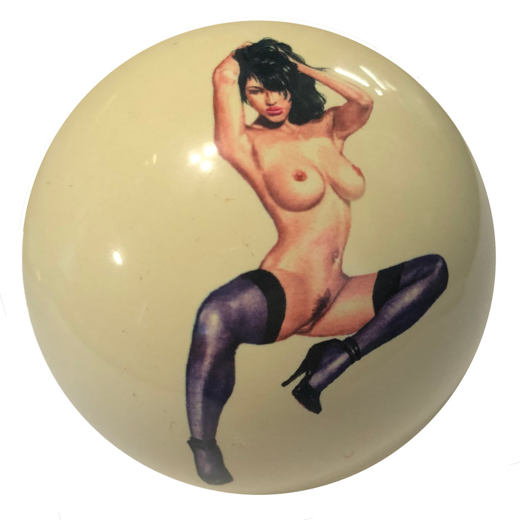 Sexy Stockings Girl Custom Cue Ball