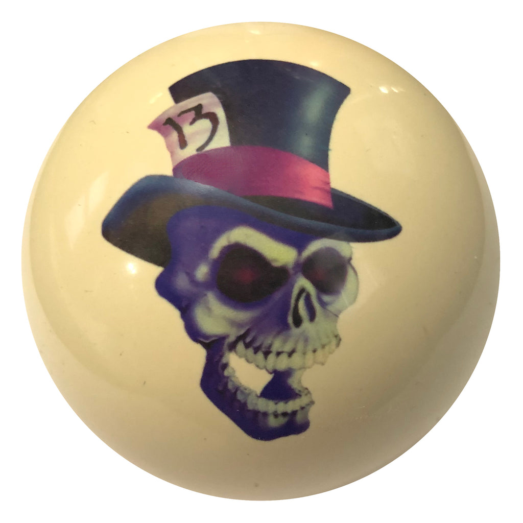 Lucky 13 Skull Custom Cue Ball