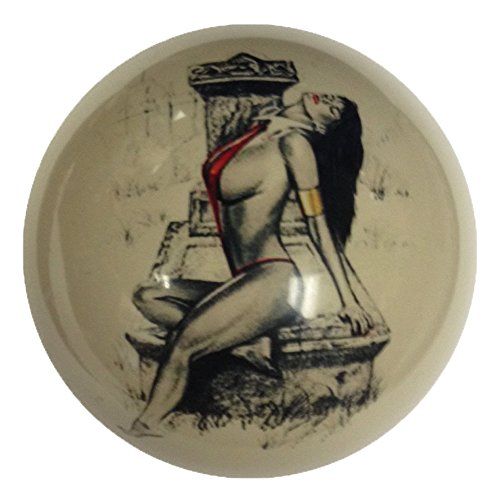 Red Bikini Casket Girl Pin-Up Custom Cue Ball