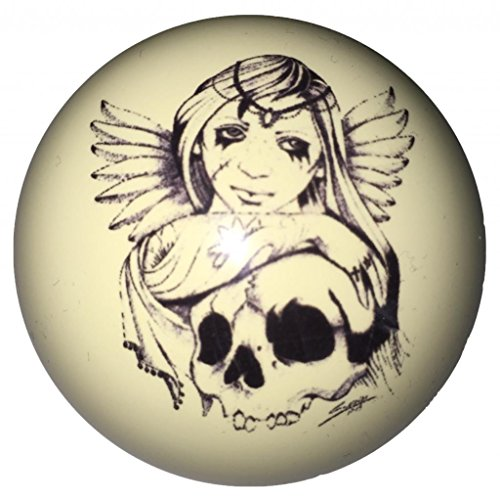 Angel & Skull Pin-Up Custom Cue Ball