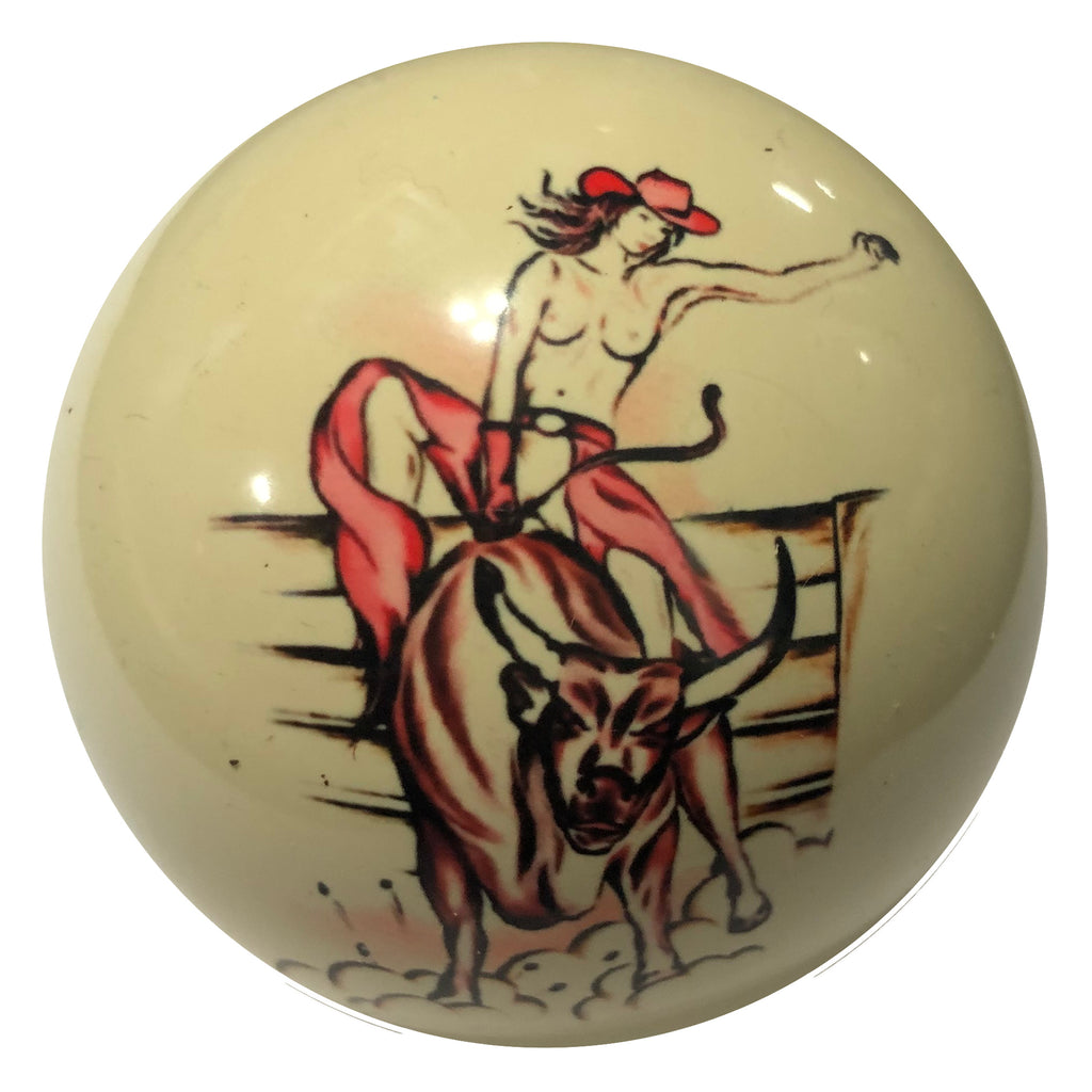 Riding the Bull Custom Cue Ball
