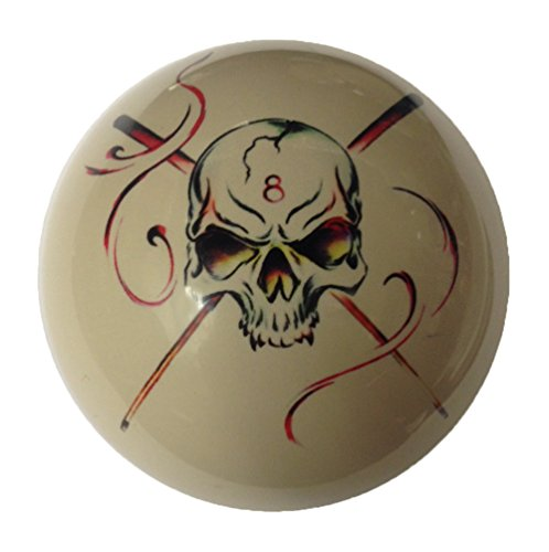 Skull Crossbones Custom Cue Ball