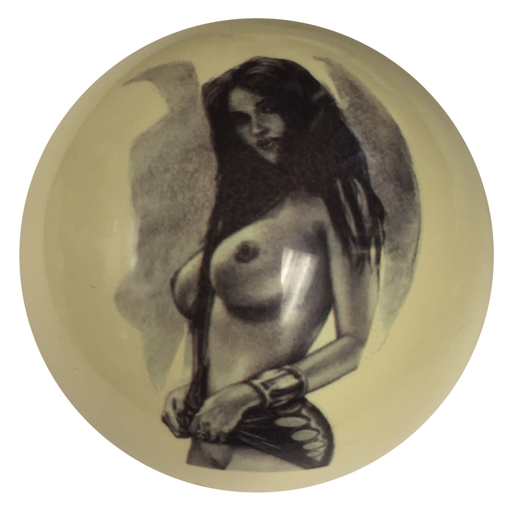Vamp it Up Pin-Up Custom Cue Ball