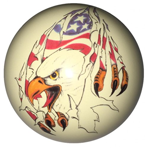 Eagle Tearing Flag Custom Cue Ball