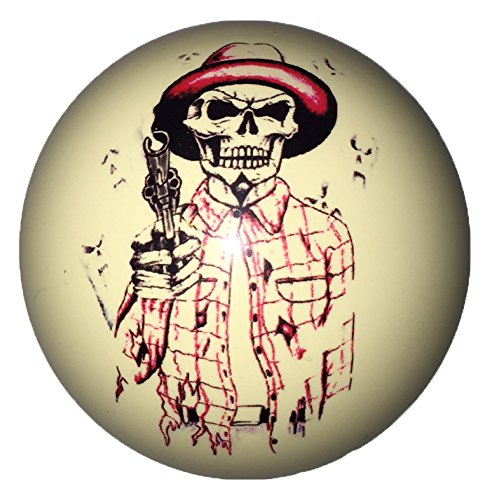 Cowboy Skull with Gun Custom Cue Ball