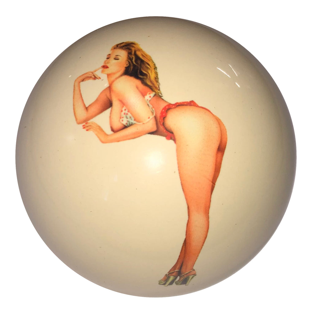 Contemplation Girl Custom Cue Ball
