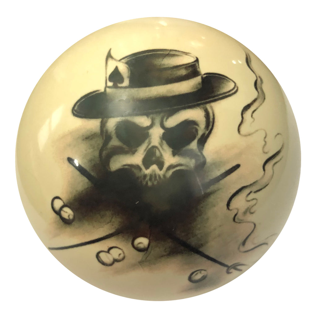 Top Hat Skull Custom Cue Ball