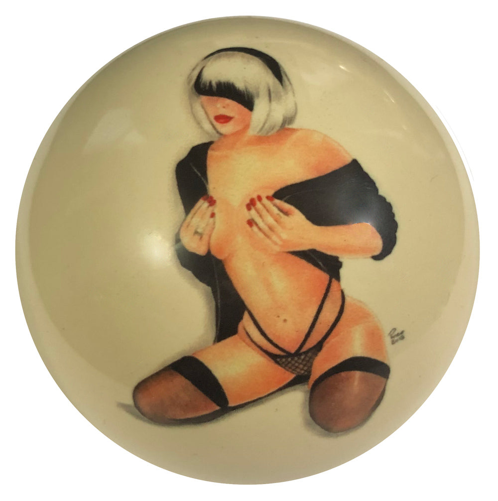 Under Cover Pin-Up Custom Cue Ball