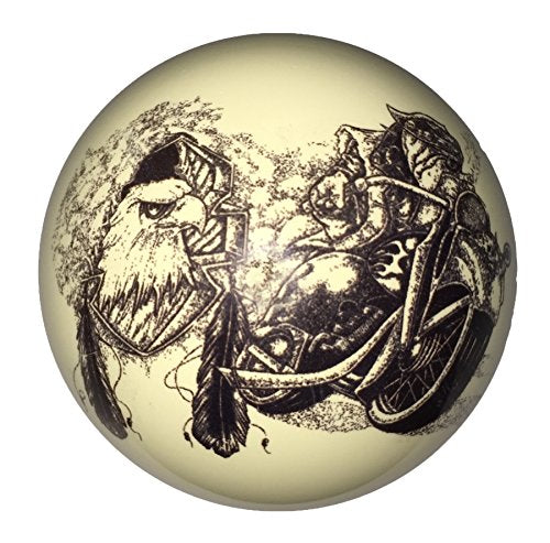 Motorcycle Bull Dog Custom Cue Ball