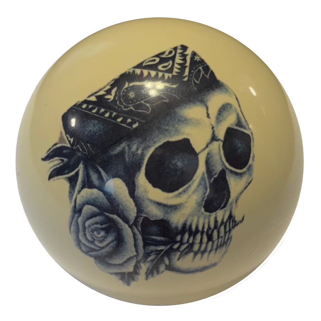 Skull with Bandana Custom Cue Ball