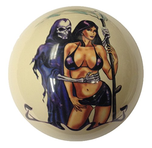 Ghoul and Girl Pin-Up Custom Cue Ball